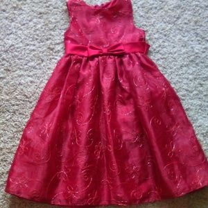 Dark red formal party dress sz 5